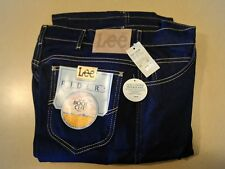 NWT LEE Regular Fit Boot Cut Jeans 34 X 32 USA Stretch Dark Blue NEW