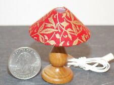 Dollhouse Miniature Lamp Walnut Red 1:10 scale Y47 Bodo Hennig Dollys Gallery