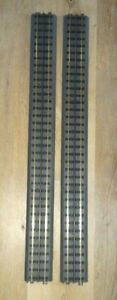 """Rail King by MTH RealTrax 40-1019 O Gauge 30"""" Straight Track Sections - 2 Pieces"""