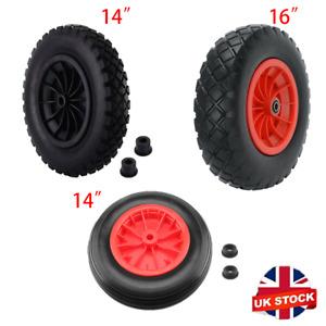 """10/14/16"""" Pneumatic Wheelbarrow Wheel Choose Bore Bearings Truck/Trolley/Cart UK"""