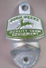 JOHN DEERE WALL STATIONARY BOTTLE OPENER STARR X CAST IRON Farm Tractor Green