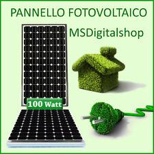 Pannello solare 100 W monocristallino camper casa barca modulo fotovoltaico watt