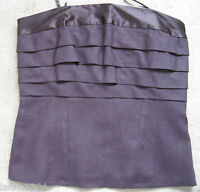 Next Brown Strapless Panelled Party Corset Basques Top (NEW) Size 10 £25.00