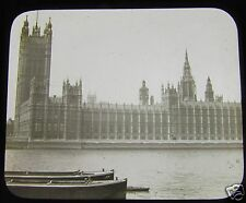 Glass Magic lantern slide HOUSES OF PARLIMENT LONDON C1890 VICTORIAN ENGLAND