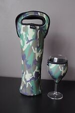 Commando bottle carrier and wine glass cooler
