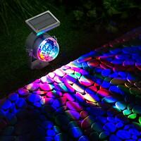 NEW Solar LED Carnival Spotlight Colour Changing Projection Stake Light Outdoor