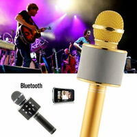 WS858 Karaoke Microphone Speaker Wireless Bluetooth Handheld Mic USB Player KTV
