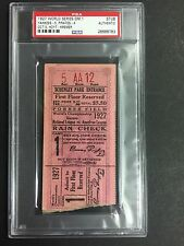 1927 World Series Ticket Games 1 PSA Babe Ruth Lou Gehrig Murderers Row