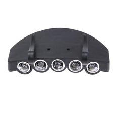 Ultra Bright 5 LED Clip On Head Light, Cap inc Batteries - UK Stock