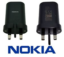 NOKIA UK Plug Power Adapter Travel Charger - CE/RoHS Approved Mains USB AD-18WX
