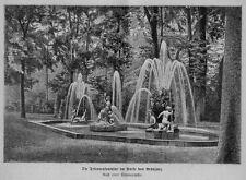 Stampa antica ARANIJUEZ fontana Tritone Spain 1876 Old print Grabado antiguo