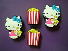 Clog Shoe Charm Hello Kitty Pop Corn For Wristband For Accessories