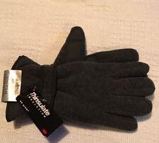 BNWT Men's Grey Polar Fleece Gloves. Size M/L