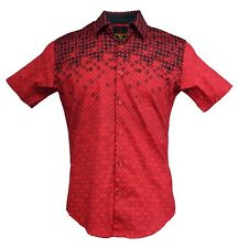New Red Sun Fasion Short Sleeve Button Down Mens and Boys