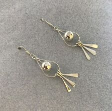 Western Style Dangling Threads Bead 925 Sterling Silver Long Sexy Drop Earrings
