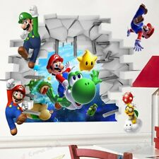 Super Mario Cartoon Stickers Wall Decal Vinyl  Home Decor Removable M11