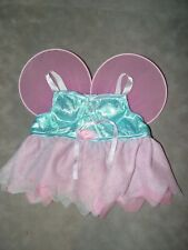 Build a Bear Clothes Clothing Fairy Outfit Blue with pink Wings and skirt