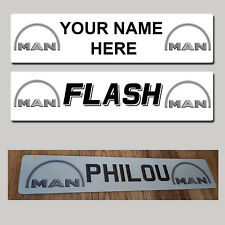 MAN Lorry Truck Trucker Windscreen SHOW PLATES Name Sign personalised