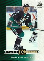 Paul Kariya 1997-98 Pinnacle Zenith Dare to Tear 5x7 Anaheim Mighty Ducks #Z45
