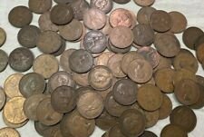 100 x Vintage British Large One Penny UK copper Pennies Victoria to QEII lot#116