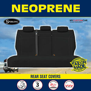 For Toyota HiLux SR Dual Cab 2005-2015 Neoprene Black Rear Seat Covers