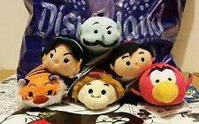Tsum Tsum Aladdin Set Lot of 6 Disney Collection Mini Size NWT VHTF Authentic