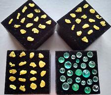 Gewichtige Goldnuggets echte Smaragde aus Kolumbien - WERTBESTÄNDIG Gold Nuggets