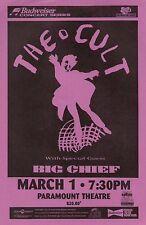 The Cult /Big Chief 1997 Denver Concert Tour Poster-Hard Rock, Heavy Metal Music