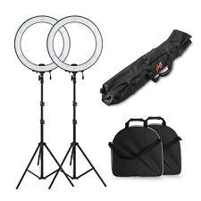 New 2x Pro 600PCS LED Video Studio Camera Ring Light Kit + Stand + Bag +Diffuser