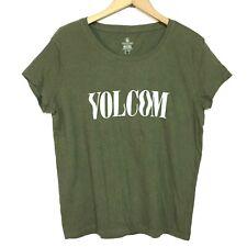 Volcom XS 0 2 Green T-shirt Knit Top Tee Shirt Skateboard Surf Extreme Sports