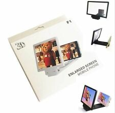 3D HD Enlarge Movie Magnifier Screen Portable Folding Stand For Mobile Phones UK