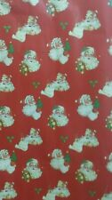 SANTA CLAUS DESIGN RED CHRISTMAS WRAPPING PAPER》20 SQ. FT 🎄 🎁 🎅