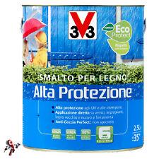 Smalto per Legno Alta Protezione 2,5 litri bianco impregnante legno acqua