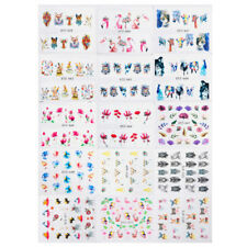 15x water transfer sticker tattoo slider summer rose daisy flamingo nail art WD