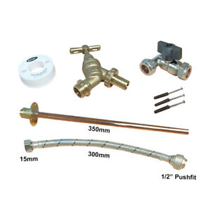 Professional Thru Wall Outside Garden Tap Kits - MULTIPLE CHOICE AVAILABLE