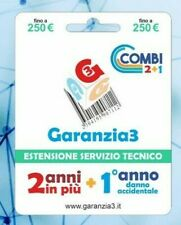 Garanzia3 Combi Extension Pour Garantie 3 Ans + 1 Année Dommages