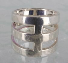 Ring Size 7 1/2 925 Fine Signed 1353 Th Silpada Sterling Silver 3 Tier Wide Band