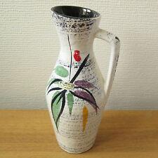 Vintage SCHEURICH 274-21 WHITE FLORAL VASE | German Ceramics Mid Century 60s 70s