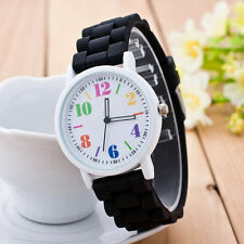 HOT Women Unisex Simple Silicone Cute Motion Anlog Quartz Sports Watches New