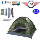 3-4 Person Waterproof 4Season Folding Camouflage Tent for Outdoor Camping Hiking