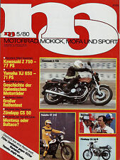 mo 5/80 1980 Enfield India 350 Morini 3 ½ VT Van Veen Yamaha YZ 465 Zündapp CS50