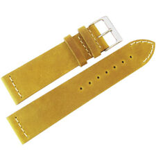 22mm ColaReb Venezia Ocher Leather Made in Italy Mens Aviator Watch Band Strap