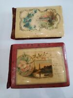 2 Antique Victorian Handwritten School Autograph Books W/ Photos 1908 1909