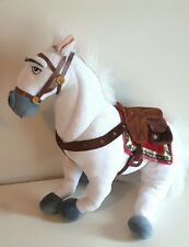"DISNEY STORE MAXIMUS RAPUNZEL HORSE LARGE 17"" SOFT PLUSH TOY white"