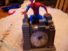 2002 Marvel Spider Man Retro Battery Operated Musical Theme Song Alarm Clock