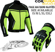 HIVIZ BLACK MESH AIR VENT CE ARMOUR SUMMER MOTORBIKE MOTORCYCLE JACKET & GLOVES
