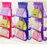 Organizer Hanging Handbag Storage Pocket Closet Purse Holder Rack Clear Wardrobe