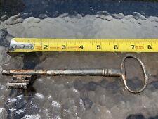 Rare 16th 17th Century European Old Iron Genuine Antique Skeleton Key