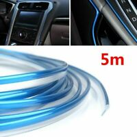 5M Car Interior Blue Line Decor Edge Gap Door Panel Accessories Molding Trim