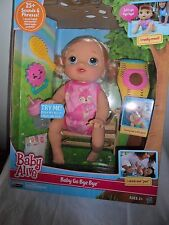 Baby Alive Baby Go Bye Bye Blonde Doll NEW CRAWLS DRINKS SPEAKS  ENGLISH SPANISH